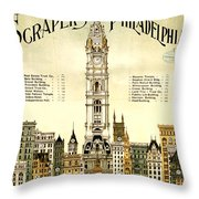 Sky Scrapers Of Philadelphia 1896 Throw Pillow