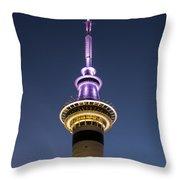 Sky Tower Throw Pillow