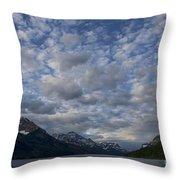 Sky Water Mountains Throw Pillow
