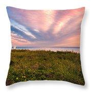 Sky Waves Throw Pillow