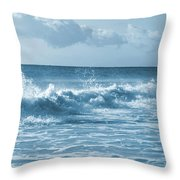 Sky -waves -water- Clouds  In Blue Throw Pillow