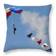Skydivers #02 Throw Pillow