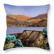 Skye Fishing Pots Throw Pillow