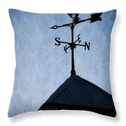 Skyfall Deer Weathervane  Throw Pillow by Edward Fielding