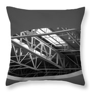 Skylight Gurders In Black And White Throw Pillow