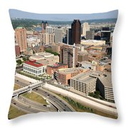 Skyline Aerial Of St. Paul Minnesota Throw Pillow