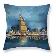 Skyline Burj-ul-khalifa  Throw Pillow