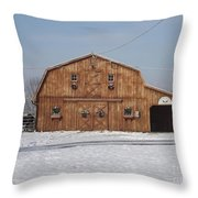 Skyline Farm Horse Barn Throw Pillow