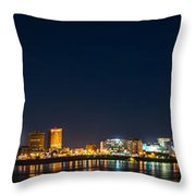 Skyline Fireworks Throw Pillow