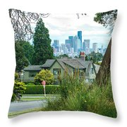 Skyline From Magnolia 2 Throw Pillow