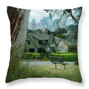 Skyline From Magnolia 4 Throw Pillow