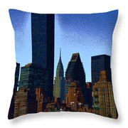 Skyline From Roosevelt Island Throw Pillow