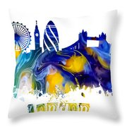 Skyline London England  Throw Pillow