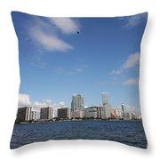 Skyline Miami Throw Pillow