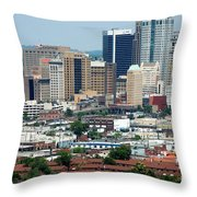 Skyline Of Birmingham Throw Pillow