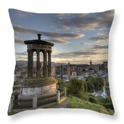 Skyline Of Edinburgh Scotland Throw Pillow
