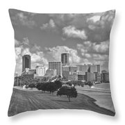 Skyline Of Fort Worth Throw Pillow