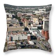 Skyline Of Lincoln Nebraska Throw Pillow