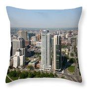 Skyline Of Milwaukee Wisconsin Throw Pillow