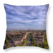 Skyline Of Paris Throw Pillow