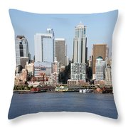 Skyline Of Seattle Throw Pillow