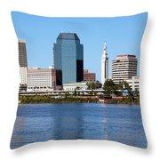 Skyline Of Springfield Throw Pillow