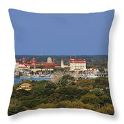 Skyline Of St Augustine Florida Throw Pillow