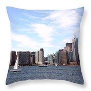 Skyline Of Toronto Ontario Throw Pillow