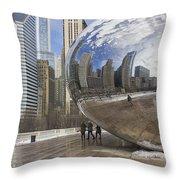 Skyline Reflected Throw Pillow