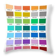 Skyline Series Color Chart Throw Pillow