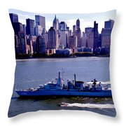 Skyline Steaming Throw Pillow by Benjamin Yeager