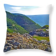 Skyline Trail And Road Through Cape Breton Highlands Np-ns Throw Pillow