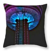 Skylon In Purple Throw Pillow