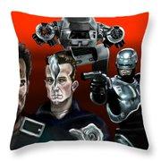 Skynet Vs Ocp Throw Pillow