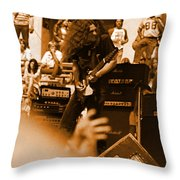 Skynyrd #2 In Amber Throw Pillow