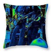 Skynyrd #5 Crop 2 In Cosmicolors Throw Pillow