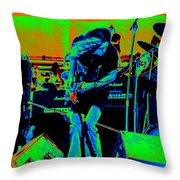 Skynyrd #6 Crop 2 In Cosmicolors Throw Pillow