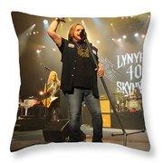 Skynyrd-group-7320 Throw Pillow