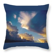 Skyscape - Puffy White Clouds Throw Pillow