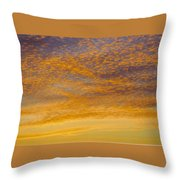 Skyscape - Rocky Gold Throw Pillow
