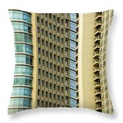 Skyscraper Closeup Throw Pillow