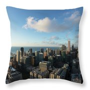 Skyscrapers In A City, Chicago, Cook Throw Pillow