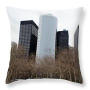 Skyscrapers Of The Battery Throw Pillow