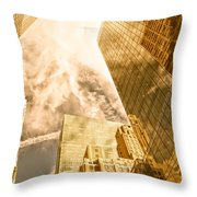 Skyscrapers Reflection  Throw Pillow