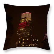 Skyscrapers Through The Trees Throw Pillow