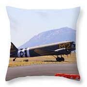 Skytrain In French Valley Throw Pillow