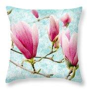 Skyward Magnolia Painterly 4 Throw Pillow