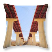 Skyway Highway Throw Pillow