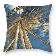 Skywheel At Niagara View Throw Pillow