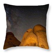 Slanted Rocks Throw Pillow